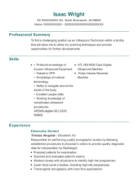 Trinitas Hospital Externship Student Resume Sample - North Brunswick ...