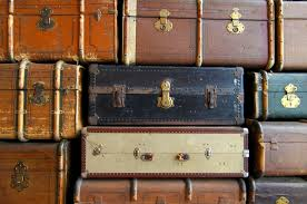 Old Suitcases Free Picture Old Suitcases Stack Leather Retro Travel