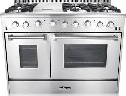 Thor Kitchen 6Burner Gas Range With Double Oven 48