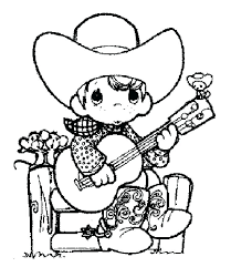 Cowboy Coloring Pages Cowboy Coloring Pages Printable For Kid Free