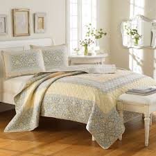153 best Bedroom Ideas... images on Pinterest | Bedroom ideas ... & Twin quilt laura ashley yellow pale blue periwinkle floral Adamdwight.com