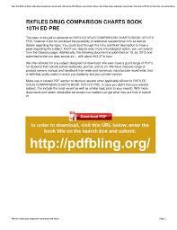Rxfiles Drug Comparison Charts Free Download Rxfiles Drug Comparison Charts Book 10th Ed Pre