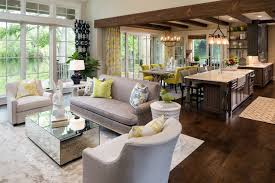 new french country transitional living room
