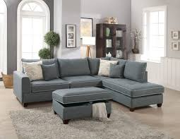f6542 steel 3 pcs sectional sofa set by