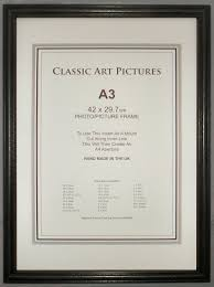 a3 black wood picture frame