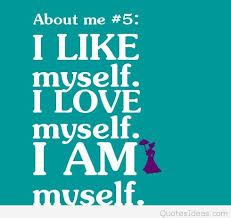 i like myself quote card