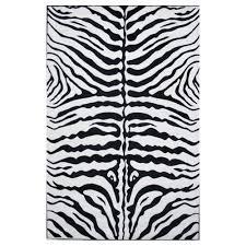 la rug supreme zebra skin black and white 8 ft x 11 ft area