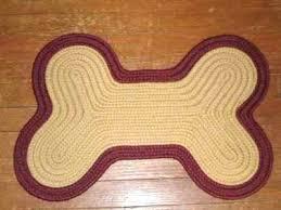 dog bone rug dog bone shaped braided rug