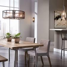 image of modern dining room lighting round