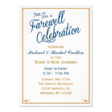 Farewell Celebration Going Away Invitation Navy