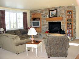 living room with stone fireplace. mesmerizing fireplace decoration with stone surround : enchanting living room design ideas grey
