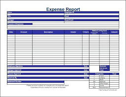 Expense Report Templates Word Excel Formats Microsoft Template ...
