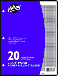 Hilroy Refill Graph Paper Metric Quad Ruled 10 7 8 X 8 3 8