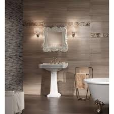 MS International Cresta Beige  In X  In Glazed Porcelain - Glazed bathroom tile
