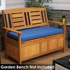 41 in x 18 in rectangle outdoor bench