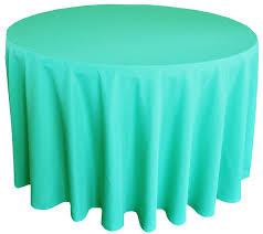 90 round polyester tablecloths tiff blue aqua blue 53118 1pc pk