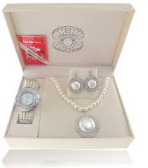 charles delon 5661 limw set watch with accessories for women