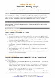 Investment Banking Analyst Resume Delectable Investment Banking Analyst Resume Samples QwikResume