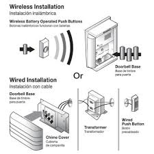 doorbell wiring diagram diode doorbell image hampton bay wireless or wired door bell brushed nickel hb 7612 02 on doorbell wiring diagram