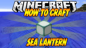 How To Craft Sea Lantern In Minecraft Youtube