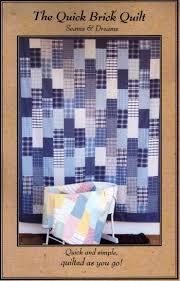 Quick Brick Quilt Pattern | Brick Quilts | Pinterest | Bricks ... & Quick Brick Quilt Pattern Adamdwight.com