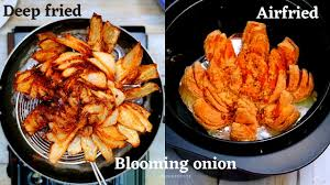 blooming onion in air fryer and deep