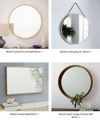 metal framed 48 round mirror