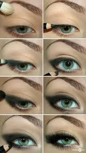 make tutorial for green eyes