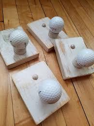 Golf Ball Coat Rack Stunning The Original Single Golf Ball Coat Rack Etsy