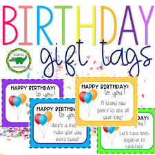 Birthday Gift Tags Coupons For Students