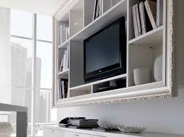 Wall Mounted Tv Frame Cool White Varnished Wooden Wall Mounted Tv Cabinet Also Shelf As