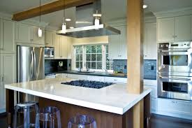 Kitchen with island cooktop contemporary-kitchen