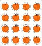 Pumpkin Sticker Chart Mini Stickers For Charts Class Use Found Here We Have