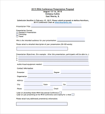 Sample Conference Proposal Template 14 Free Documents In Pdf Word