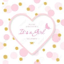 Baby Shower Invitations Template Girl Baby Shower Invitation Template Included Laser Cutout Heart