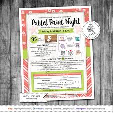 event flyer printable pta fundraiser ptn pallet paint night school flyer
