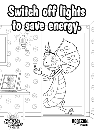 Small Picture Coloring Pages About Energy Coloring Pages