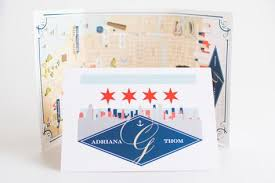Listing For Claire Chicago Tri Fold Map Wedding Map