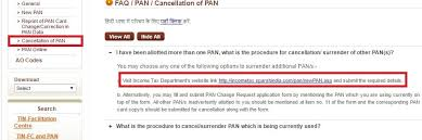 How To Cancel Pan If You Have More Than One Pan Deactivation Of Pan