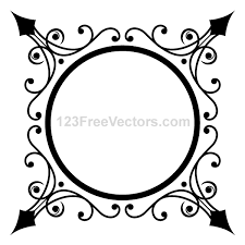 Free Circle Ornate Frame PSD files vectors graphics 365PSDcom