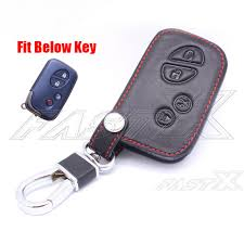 car remote key chain fob holder case leather cover for lexus gx lx rx hyq14acx