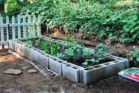 Small Picture Cinder Block Raised Bed Garden Design Home Design Lover