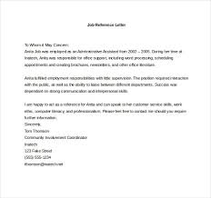 Letter Of Recommendation Employment Template Job Reference Letter Template Retail Plks Tk