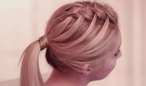 Hairstyle Waterfall step by step tutorial for criss cross waterfall braid hairstyle 2412 by stevesalt.us