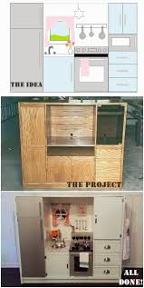 Play Kitchen From Old Furniture Turn An Old Cabinet Into A Kids Diner Diners Cabinets And Mini