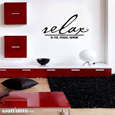 relax to rest release unwind wall art decals