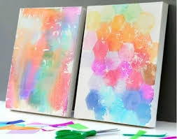 tissue paper painted canvas