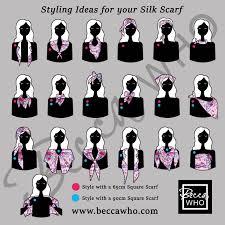 Designer Square Silk Scarves Ways To Wear A Square Silk Scarf By Designer Becca Who Take