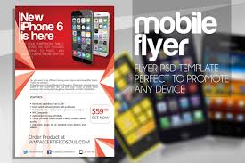 smartphone flyer template psd flyer designs graphicfy mobile flyer 1