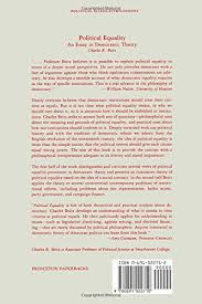political equality an essay in democratic theory amazon co uk  political equality an essay in democratic theory amazon co uk charles r beitz 9780691022710 books